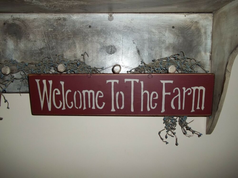 Wood sign farm house rustic country prim decor wall for I sign decoration