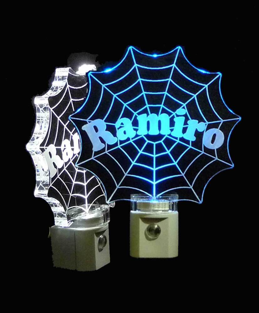 Spiderman Web Night Light Led Personalized Handmade Kids