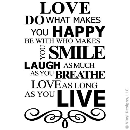 Live Laugh Love Smile Quote Vinyl Wall Decal Sticker Art