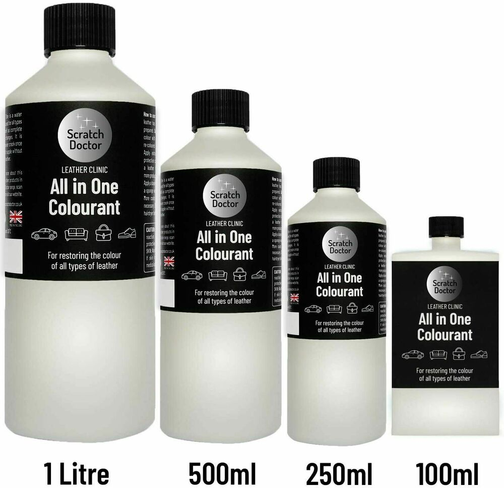 250ml All In One Leather Colourant Easy To Use Dye Stain Touch Up Repair Kit Ebay