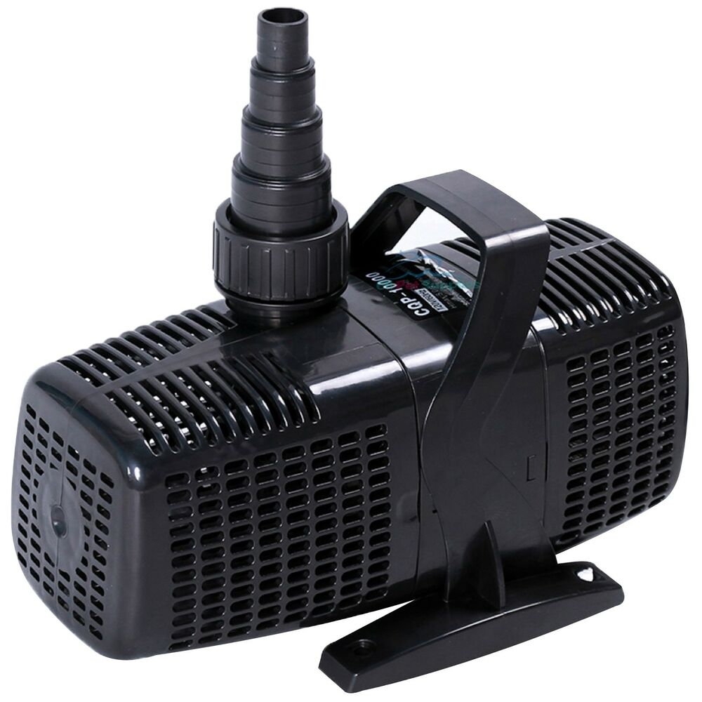 2600 gph pond pump submersible inline fountain waterfall for Fish pond pumps and filters