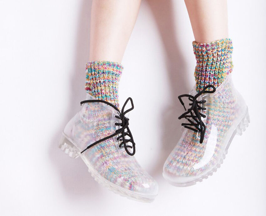 Lace up womens boots leather