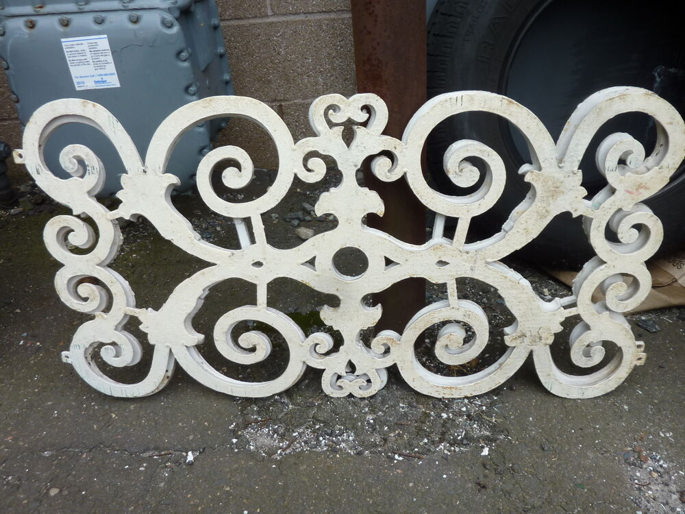 C1850 60 cast iron window guards fancy scrollwork for 18 x 60 window