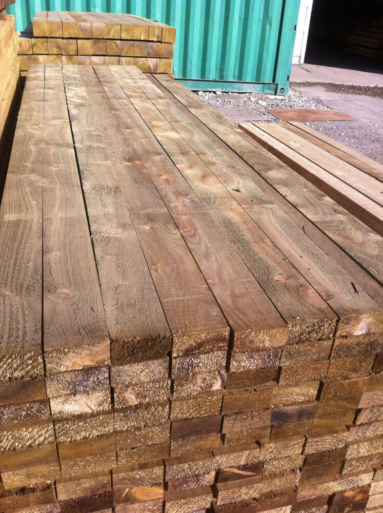 Sawn Timber Wood ~ Treated timber wood metre length only £