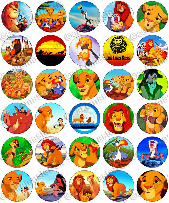 30 X The Lion King Party Collection Edible Rice Wafer