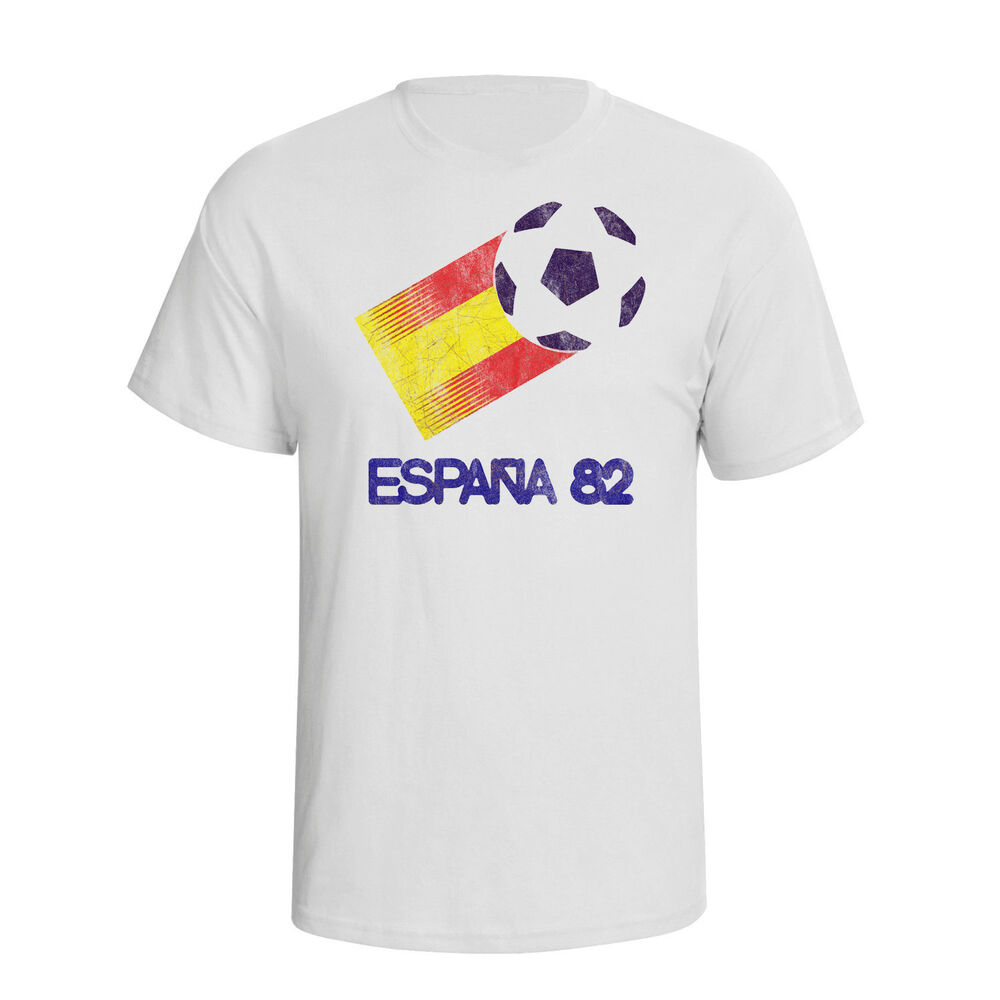 Spain t shirt ebay espana 82 classic football world cup mens t shirt retro distress style spain t62 sciox Image collections