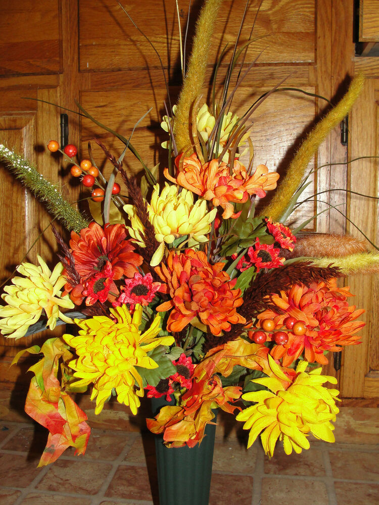 Grave Cemetery Tombstone Urn Vase For Headstone Fall Thanksgiving Arrangements Ebay