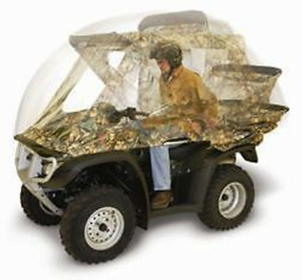 Honda 4 Wheelers >> ATV QUIKCAB Easy Use Enclosure CONVERTIBLE QUICK CAB Camo Universal Fit NEW | eBay