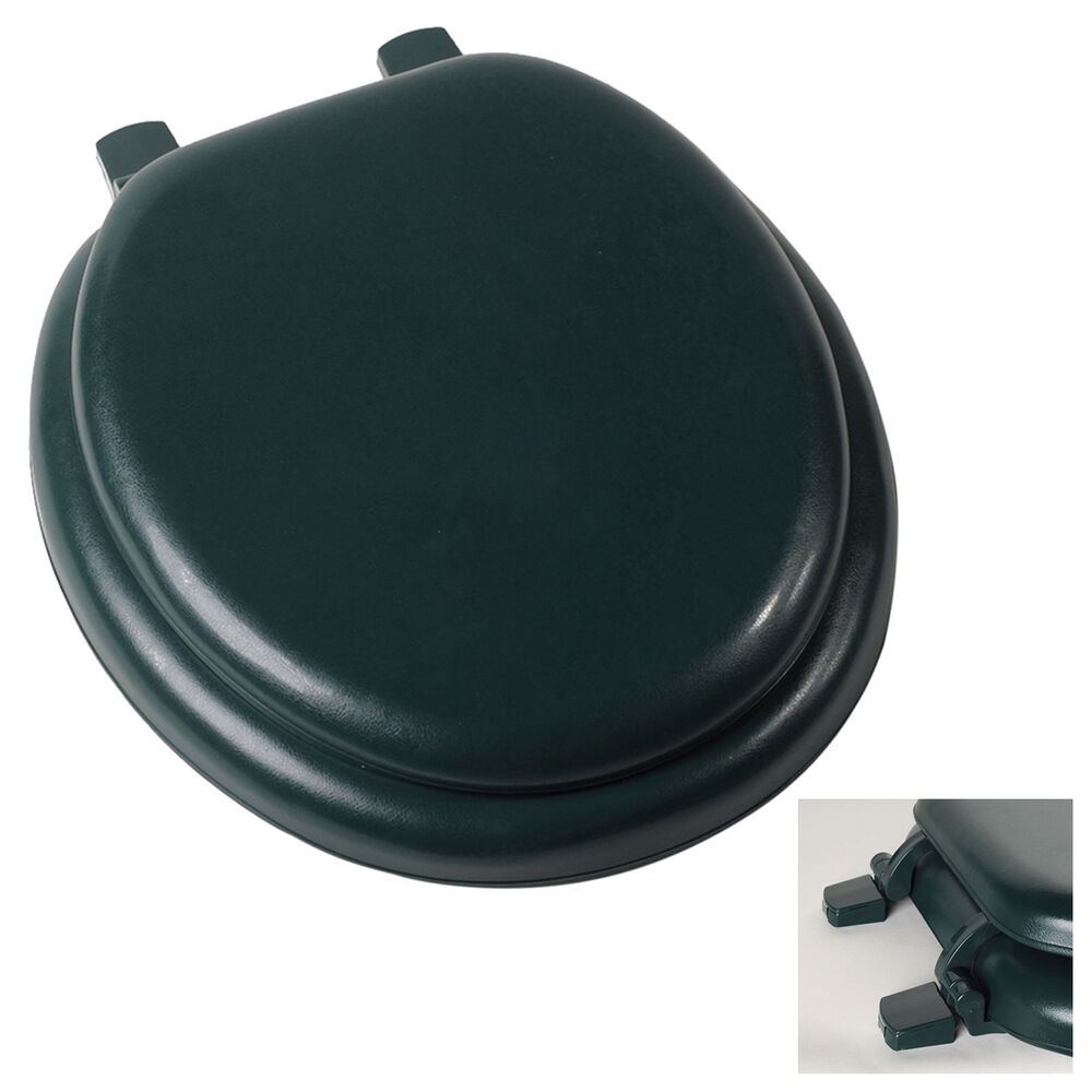 Premium Hunter Forest Green Soft Padded Round Toilet Seat