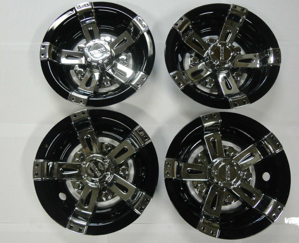 Golf Cart Hub Caps Wheel Cover 8 Quot Vegas Black Amp Chrome