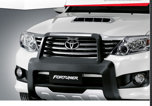 black front bumper guard for new toyota fortuner 2011 2013 genuine parts ebay. Black Bedroom Furniture Sets. Home Design Ideas