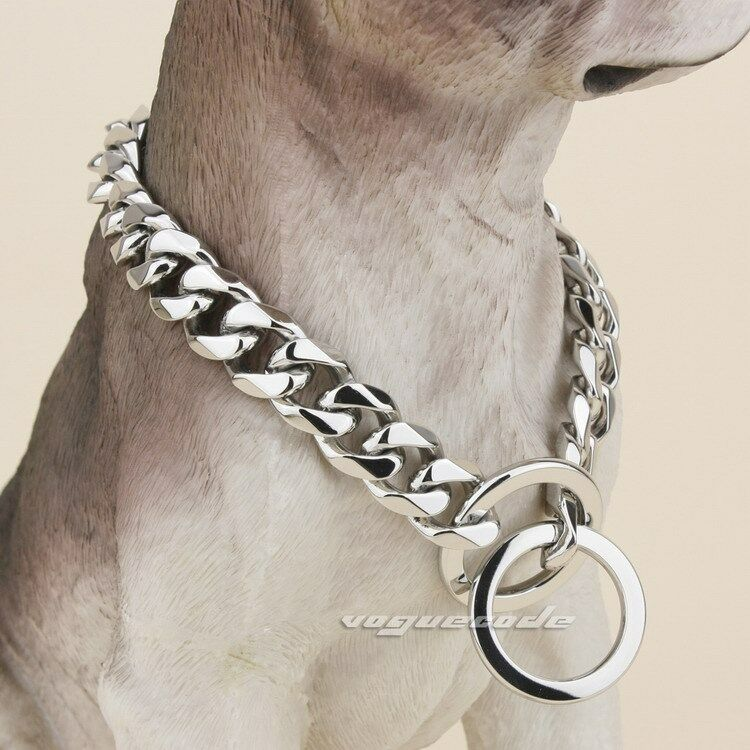 Big Chain Link Dog Collars
