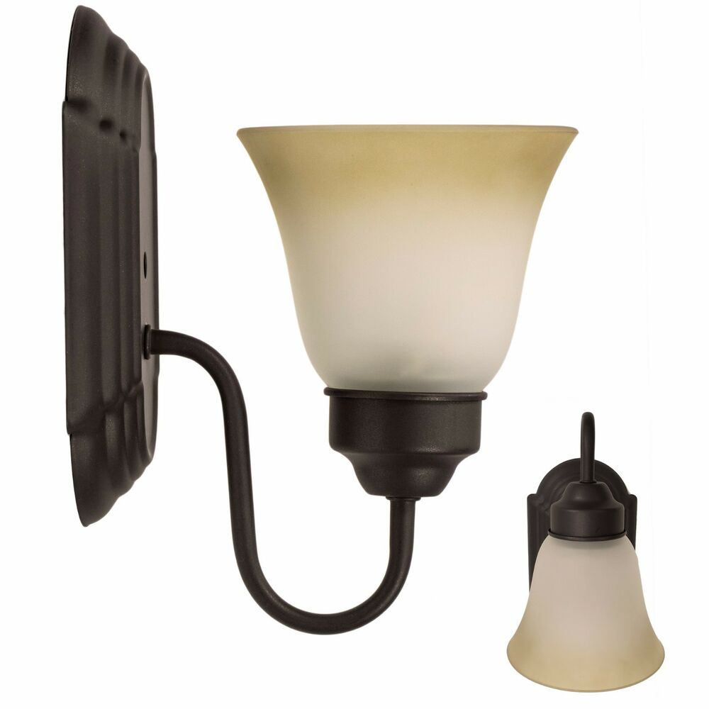 Oil Rubbed Bronze Interior Lighting Wall Sconce Light Fixture Single Light Hall eBay