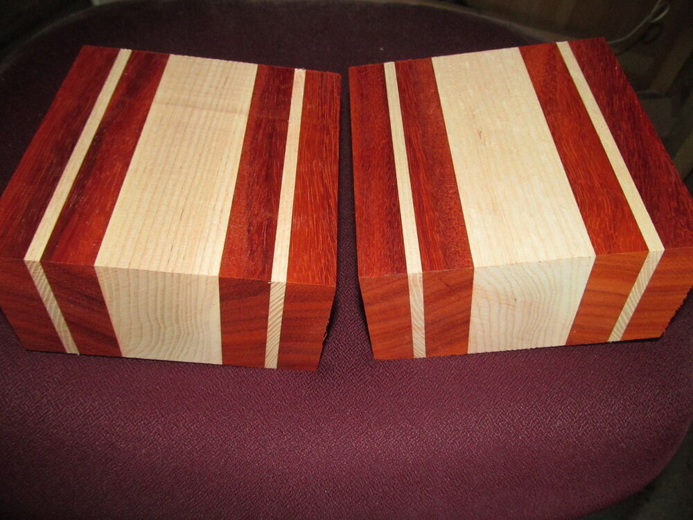 Laminated Wood Turning Blanks ~ Padauk white ash laminated bowl blanks lumber wood lathe