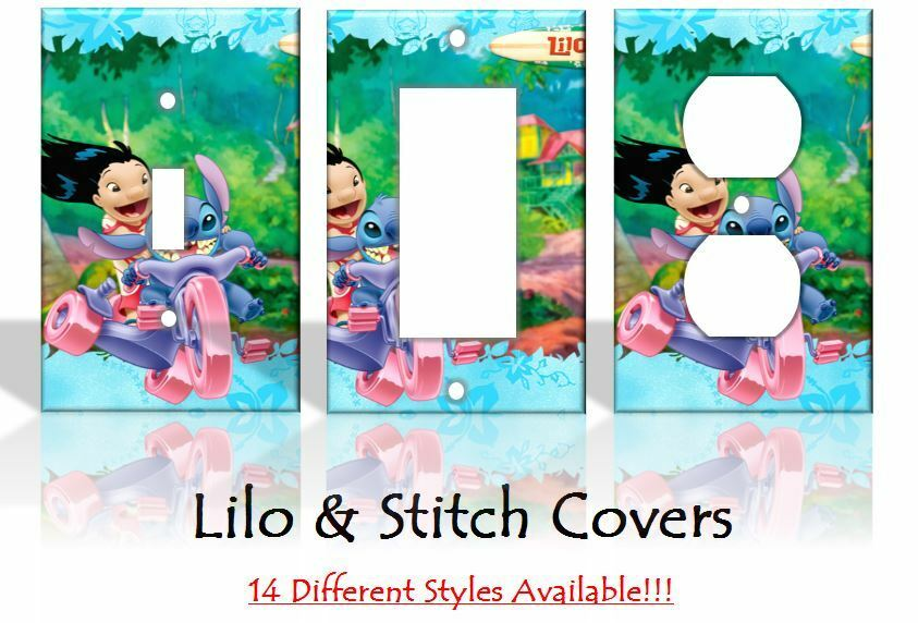 Lilo and stitch light switch covers disney home decor for Disney home decorations