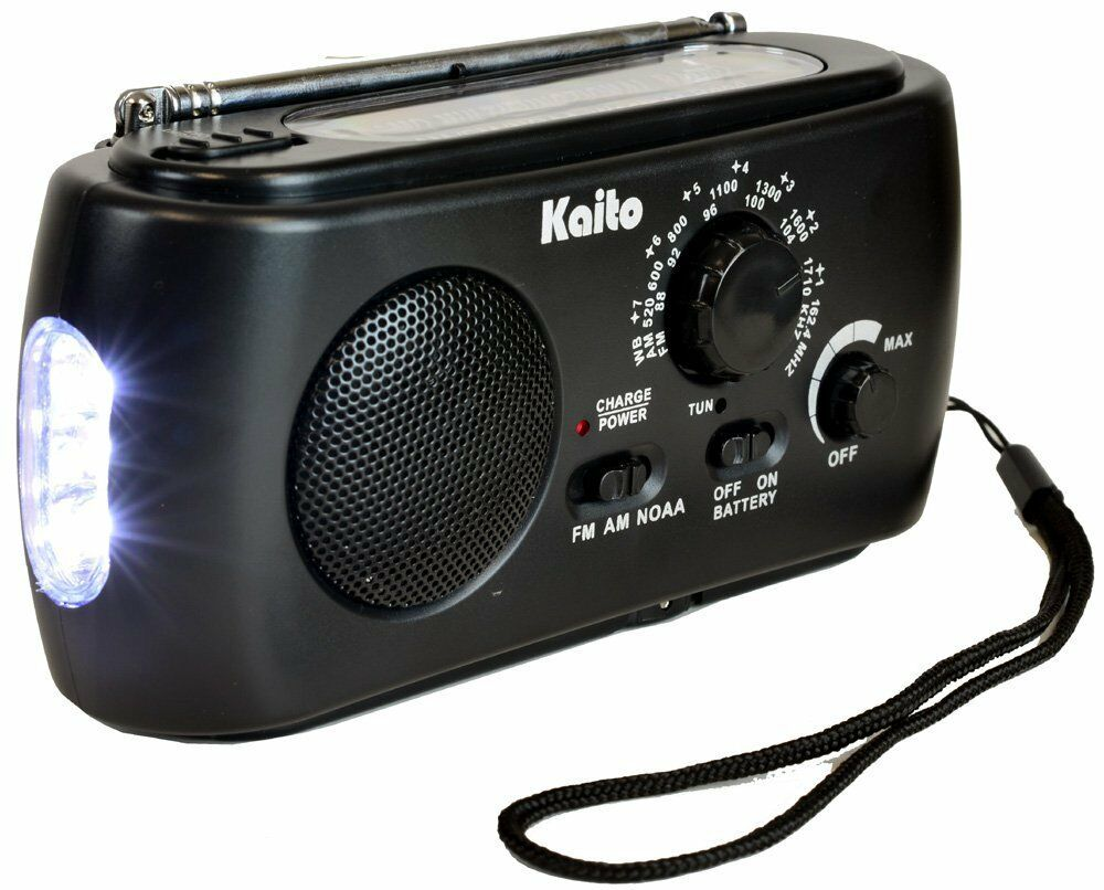 Kaito Ka331 Weather Radio With Am Fm Flashlight Crank