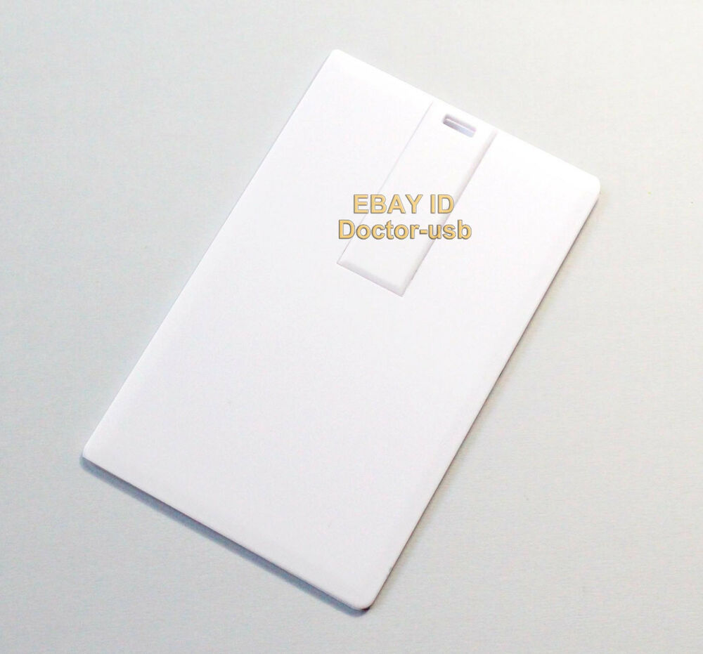 bulk diy logo blank white credit card usb drive memory flash stick 2 0 1gb 10pcs ebay. Black Bedroom Furniture Sets. Home Design Ideas
