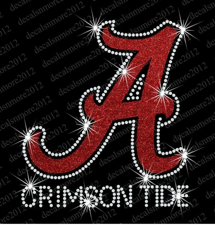 Alabama Crimson Tide Bling Iron On Glitter Vinyl