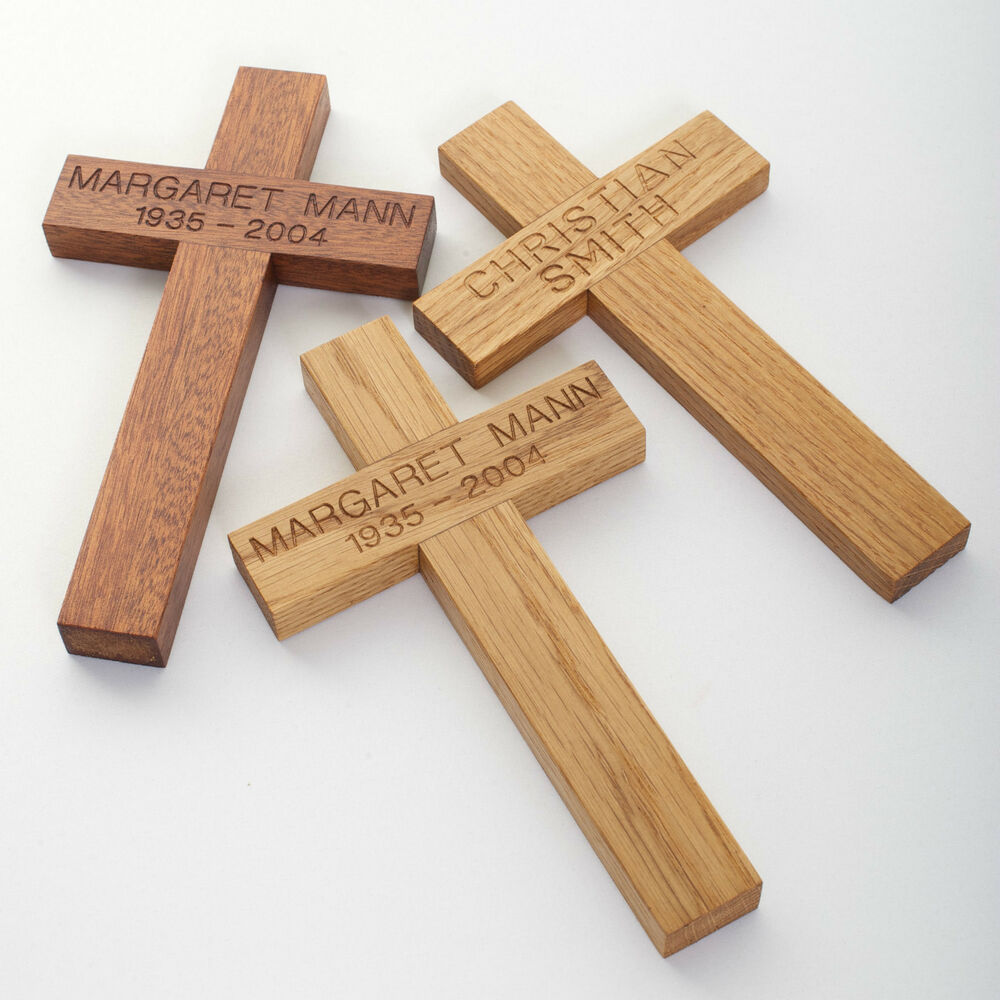 Carved wooden christening confirmation gift funeral