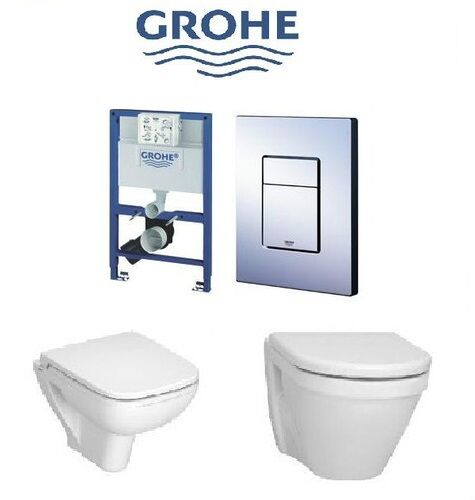 grohe cosmo rapid sl 3 in 1 cistern plate frame vitra wall hung toilet seat ebay. Black Bedroom Furniture Sets. Home Design Ideas