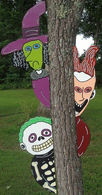 #2 Nightmare Before Christmas Peeker Halloween Yard Art ...