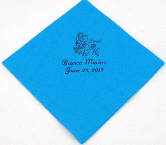 200 personalized birthday luncheon napkins custom printed for Printed wedding napkins