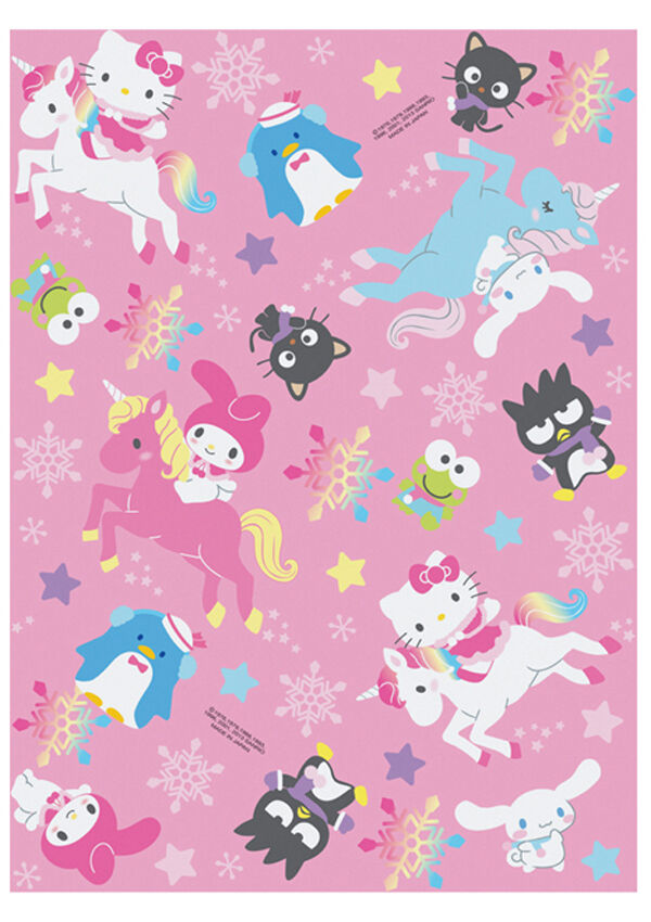 New Holiday Sanrio Hello Kitty Unicorn 5pc Gift Wrapping