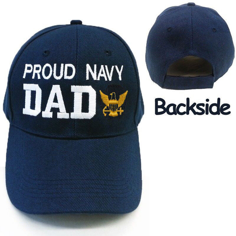 Details about PROUD US NAVY DAD CAP HAT    PROUD NAVY DAD    NAVY BASEBALL CAP  HAT MILITARY cb6dc933a8b