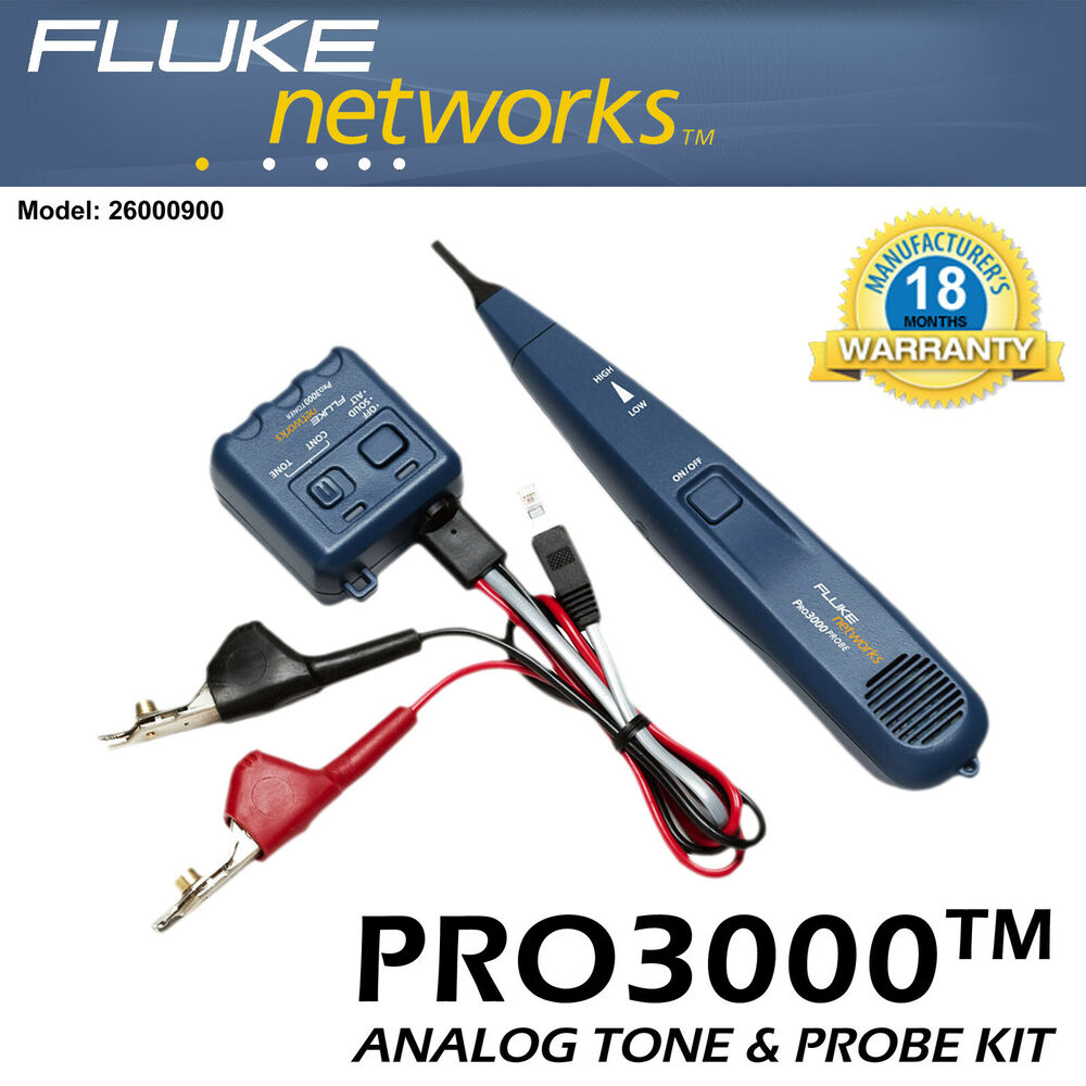 Lowes Tone Generator Electrical Wire Tracer Electrical: Fluke PRO3000 FSet Cable Telephone Phone Line Tone Toner