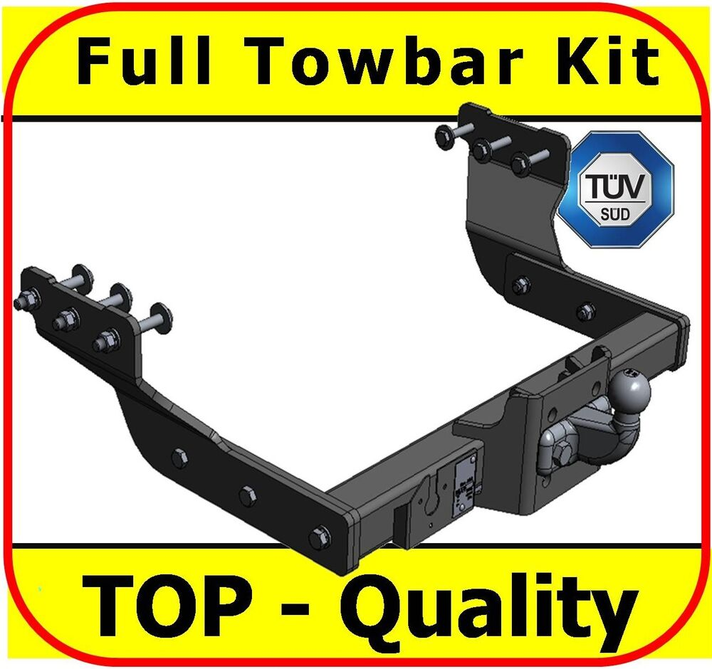 towbar trailer ford transit van with rear step 2000 on tow hitch tow ball ebay. Black Bedroom Furniture Sets. Home Design Ideas