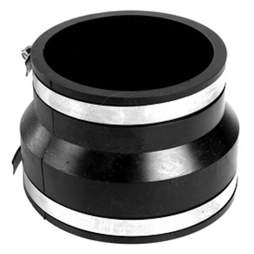 Quot rubber coupling mm clay to plastic or c i
