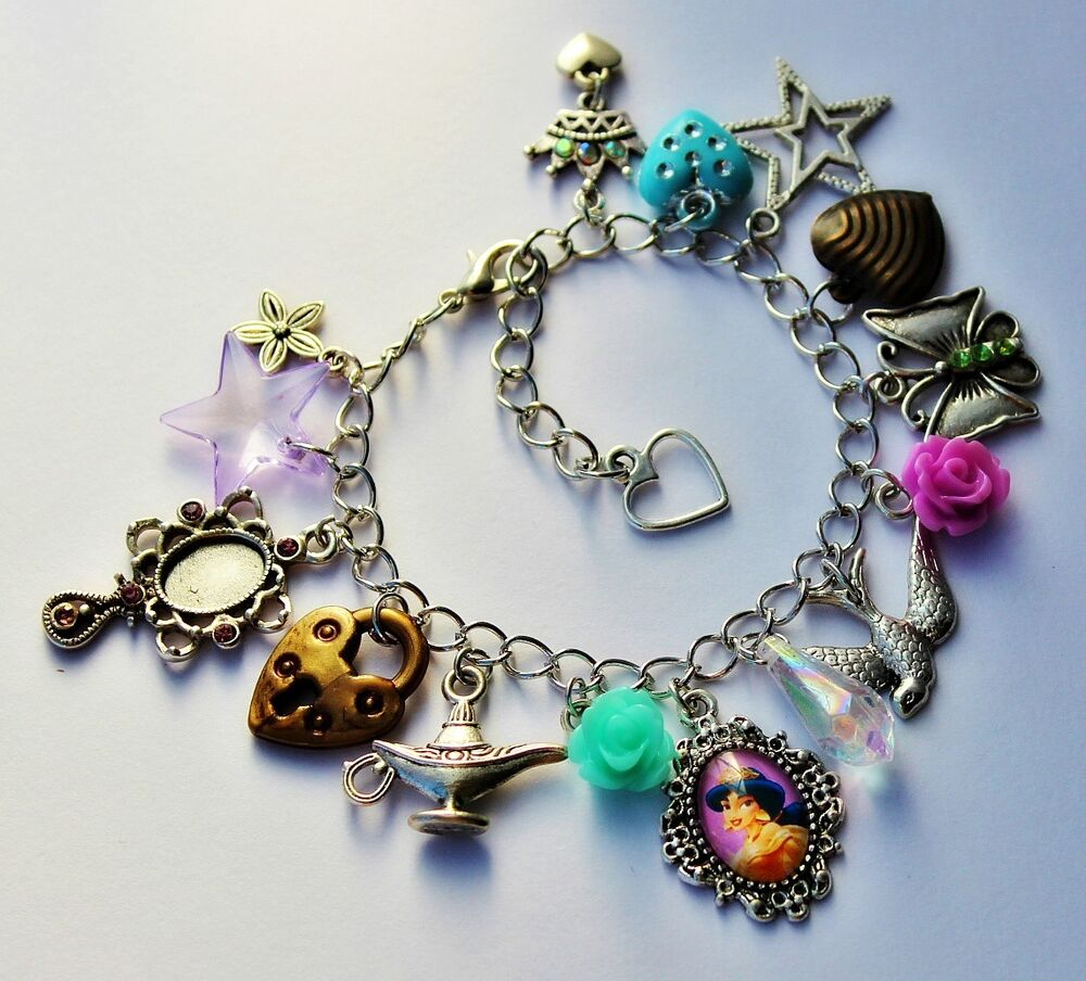 Charm Bracelet Jewelry: Beautiful Princess Charm Bracelets *Child Or Adult Size