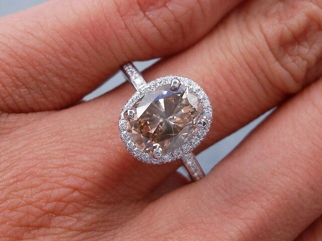 2 32 Carats Ct Tw Oval Cut Diamond Engagement Ring Natural
