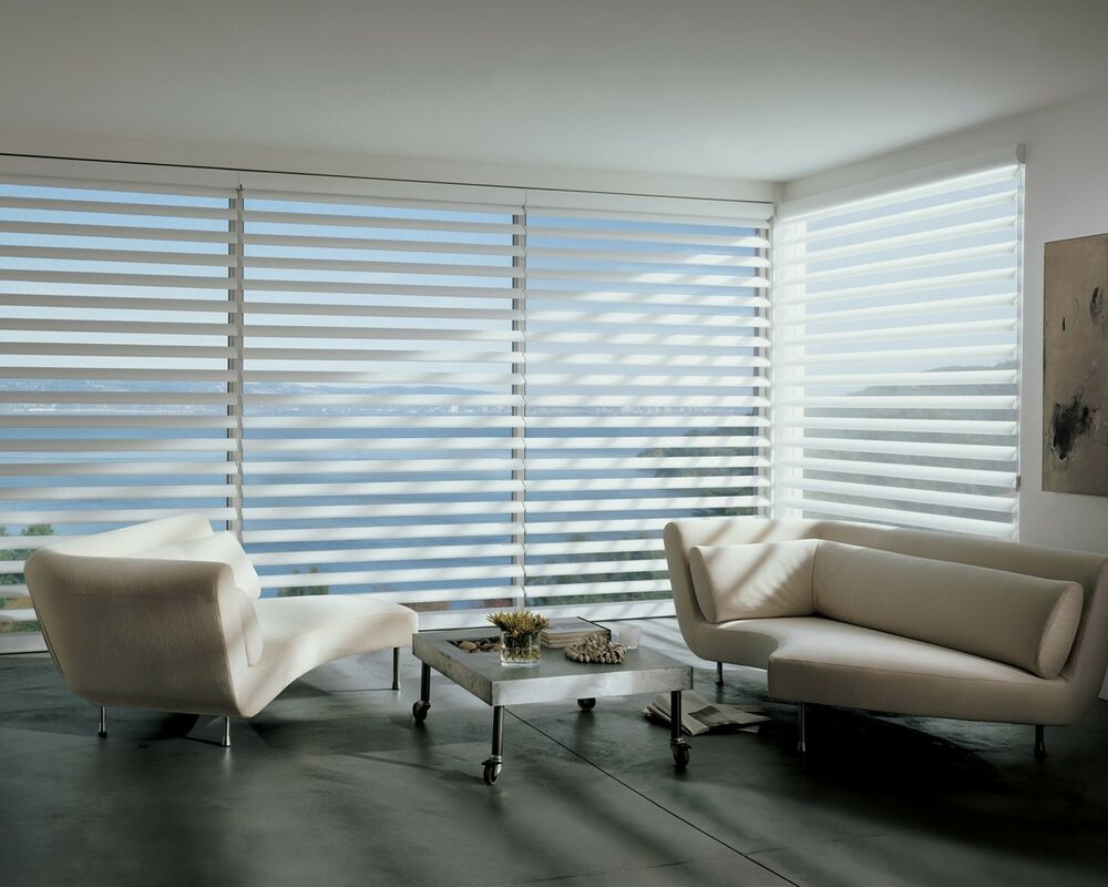 Hunter douglas pirouette silhouette window shades blinds for Shades and window treatments