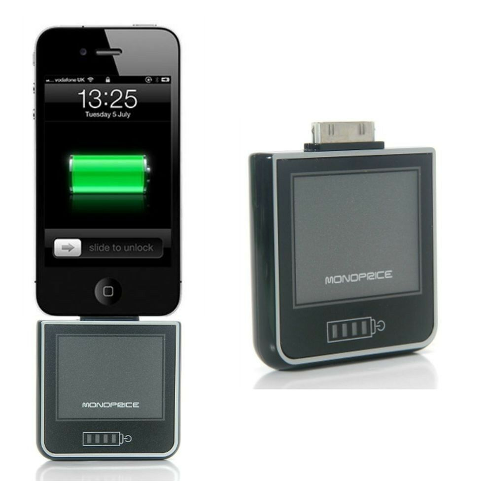 Battery For Ipod : Monoprice mah external backup battery charger for