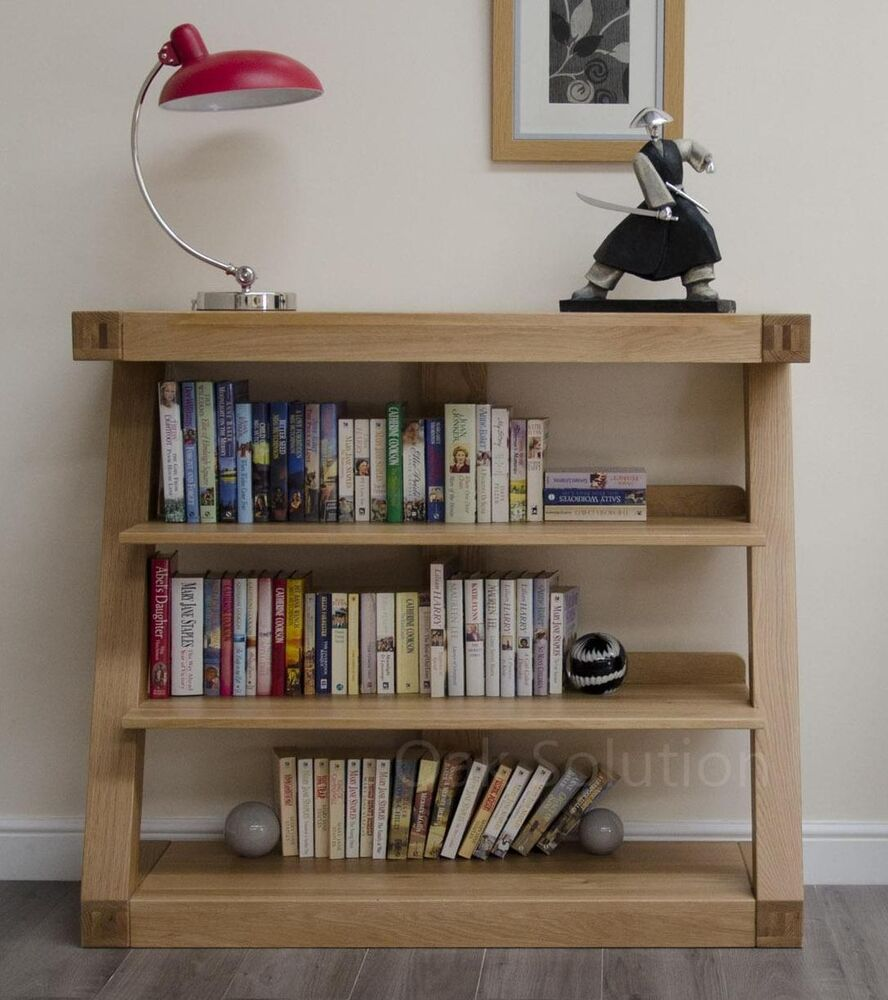 Living Room With Bookshelf: Z Solid Oak Designer Furniture Small Bookcase Living Room