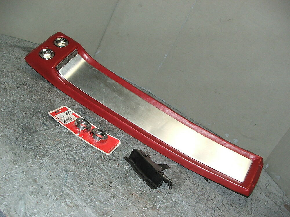 Mustang gt fastback overhead console original red ebay