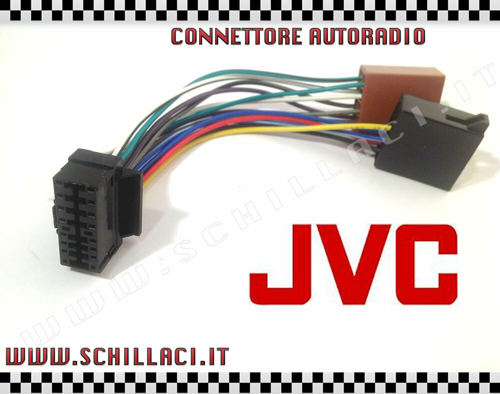 connector adapter iso autoradio jvc 16 contacts. Black Bedroom Furniture Sets. Home Design Ideas
