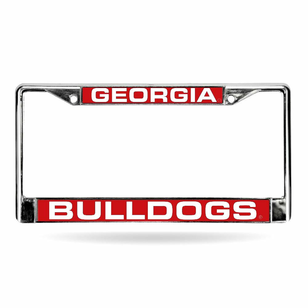 Georgia Bulldogs Laser Cut Chrome Metal License Plate