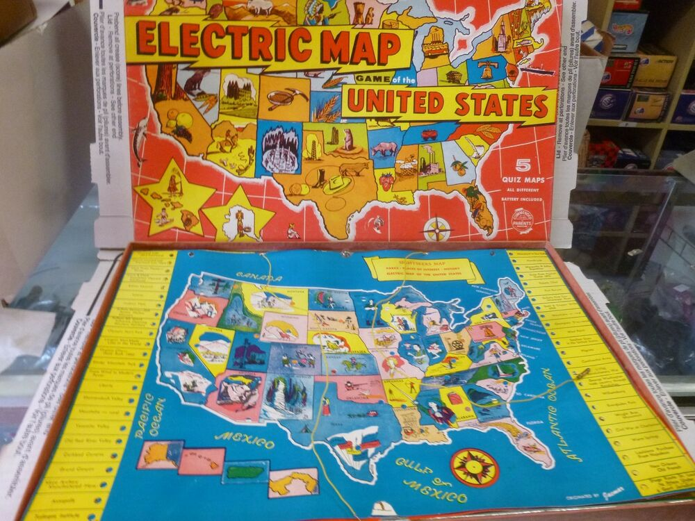 Electric Map Of The United States Board Game From Jamcar Vintage 1970s Ebay