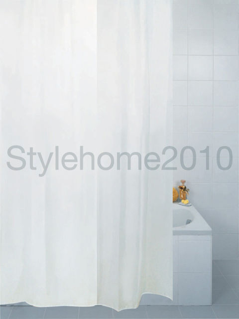 white shower curtain polyester fabric long length extra wide