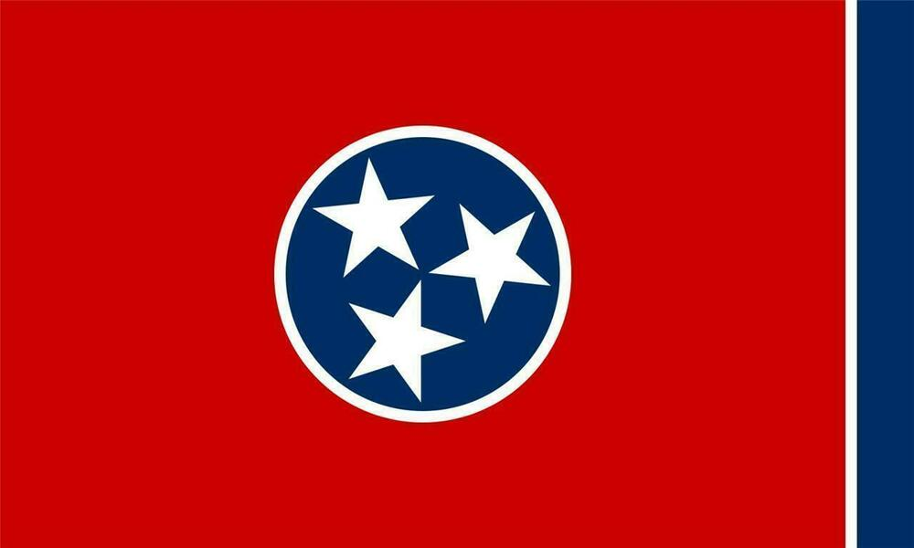 Tennessee state flag glossy poster picture photo nashville for Cabine per stare a nashville tn