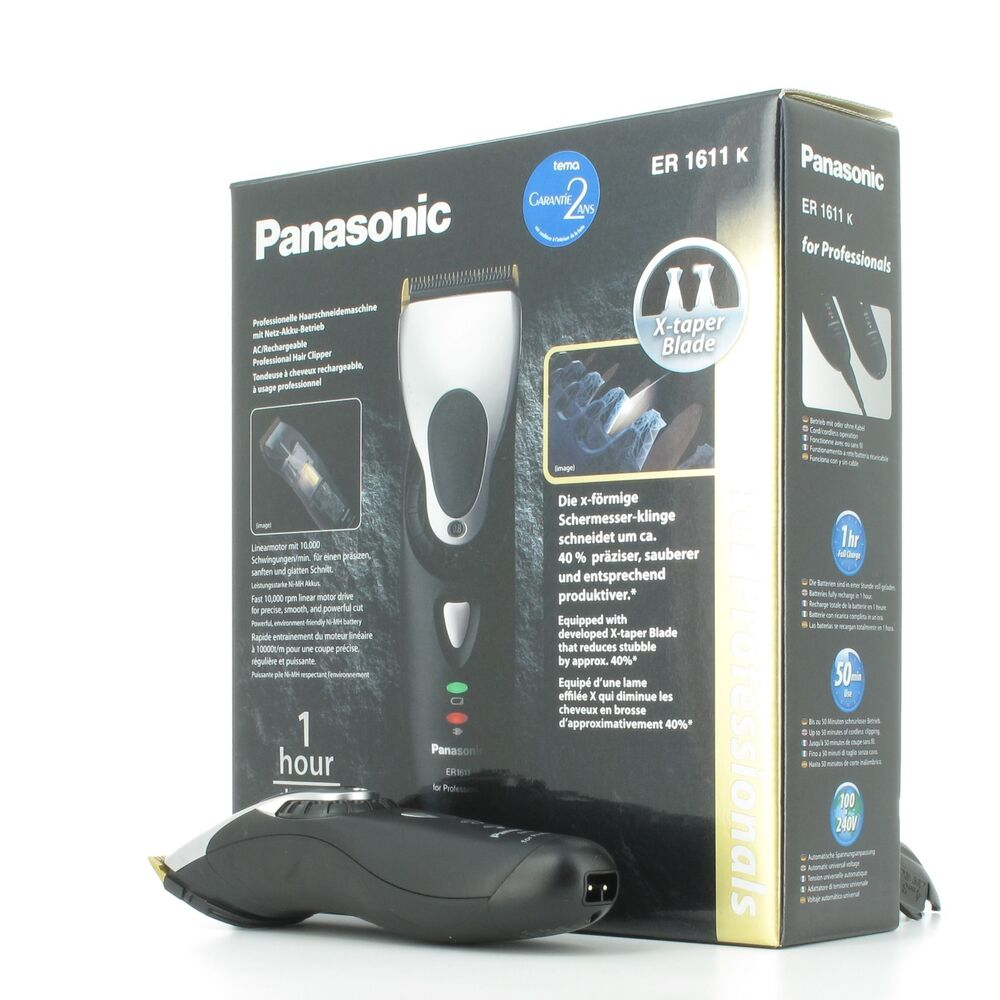 panasonic er1611 professional cord cordless hair clipper. Black Bedroom Furniture Sets. Home Design Ideas