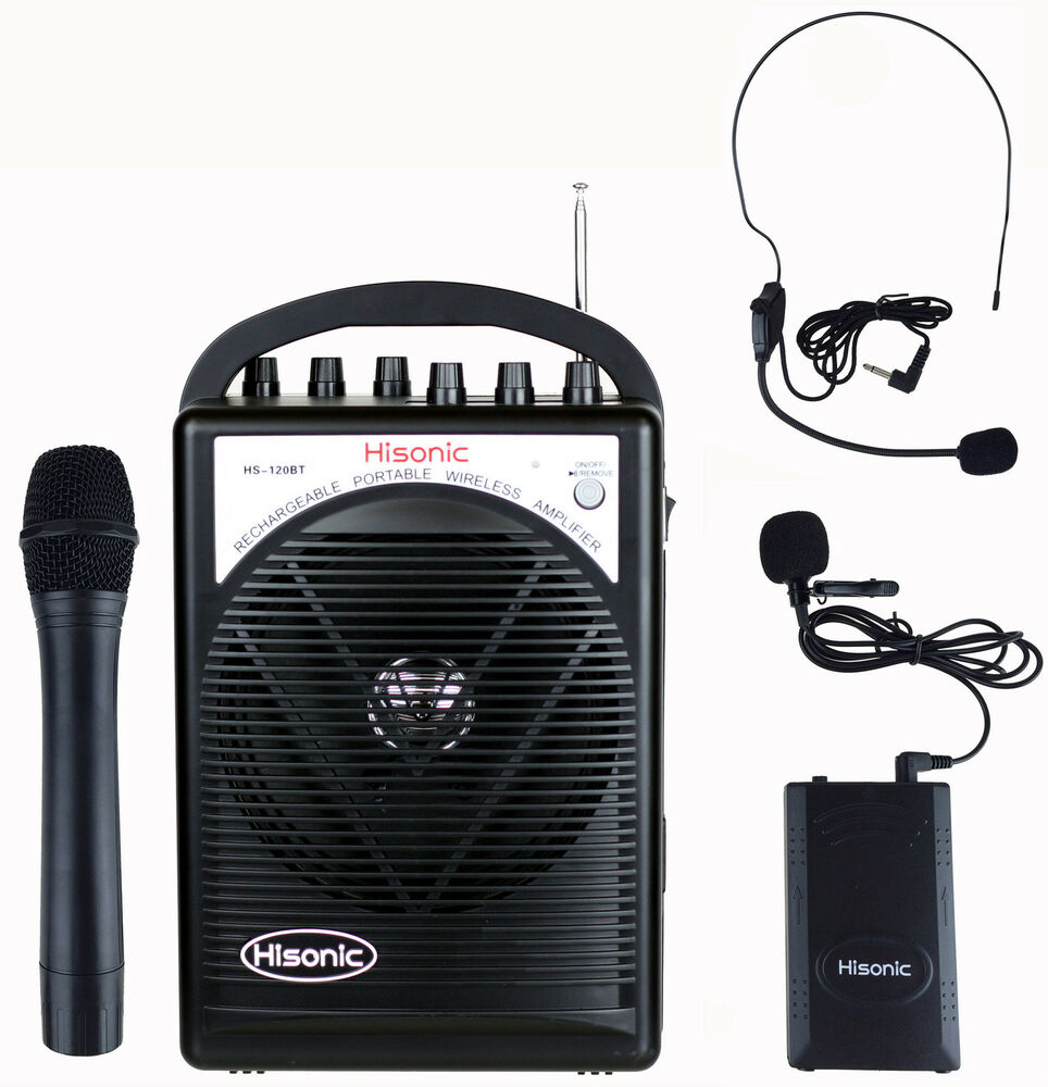 Hisonic Hs120bt Portable Speaker System With Wireless