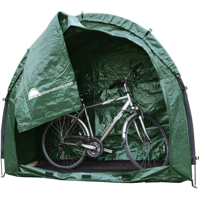 Hard Covered Bike Shelters : Shed bike cave tidy tent bicycle garden storage cover