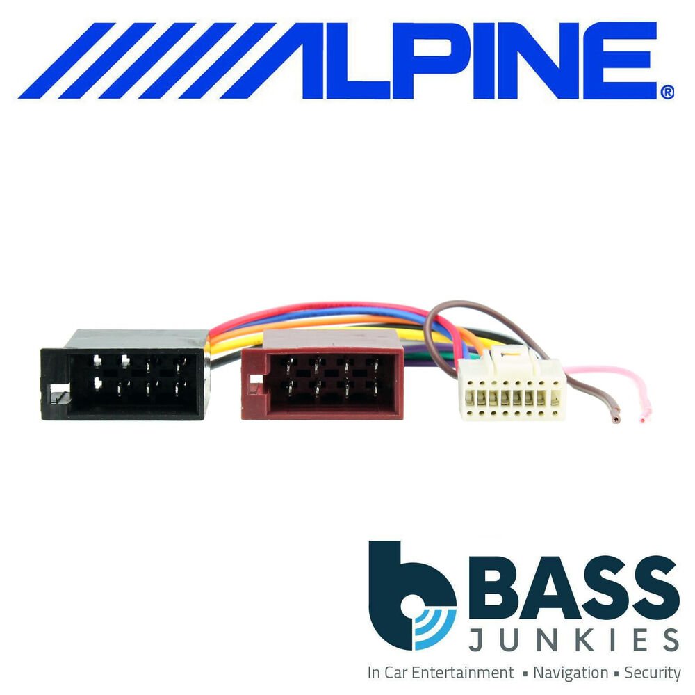 Alpine Car Radio Wiring Opinions About Diagram Harness For Head Unit Stereo 16 Pin Iso Replacement Loom Cable Lead Ebay Radios