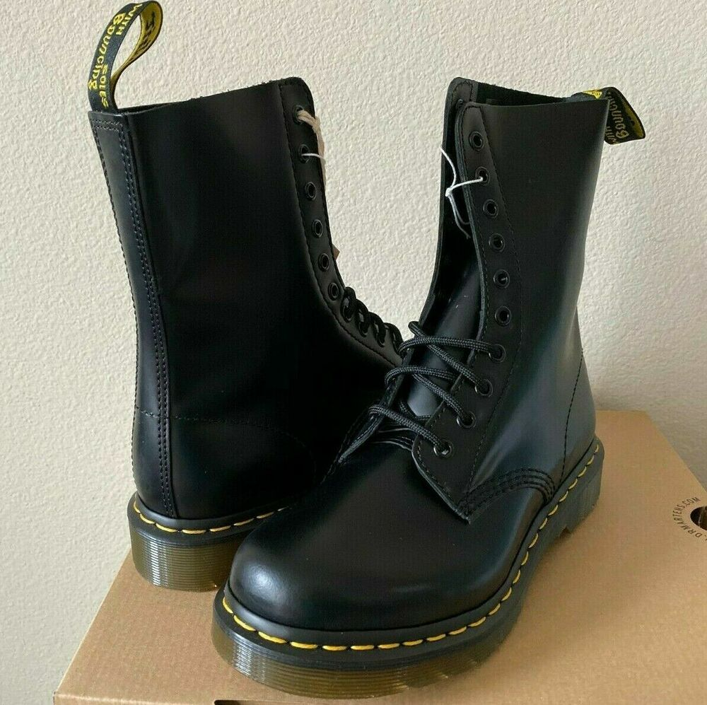 Women 39 s dr martens 1490 boots 10 eyelet leather boots ebay for Amazon dr martens