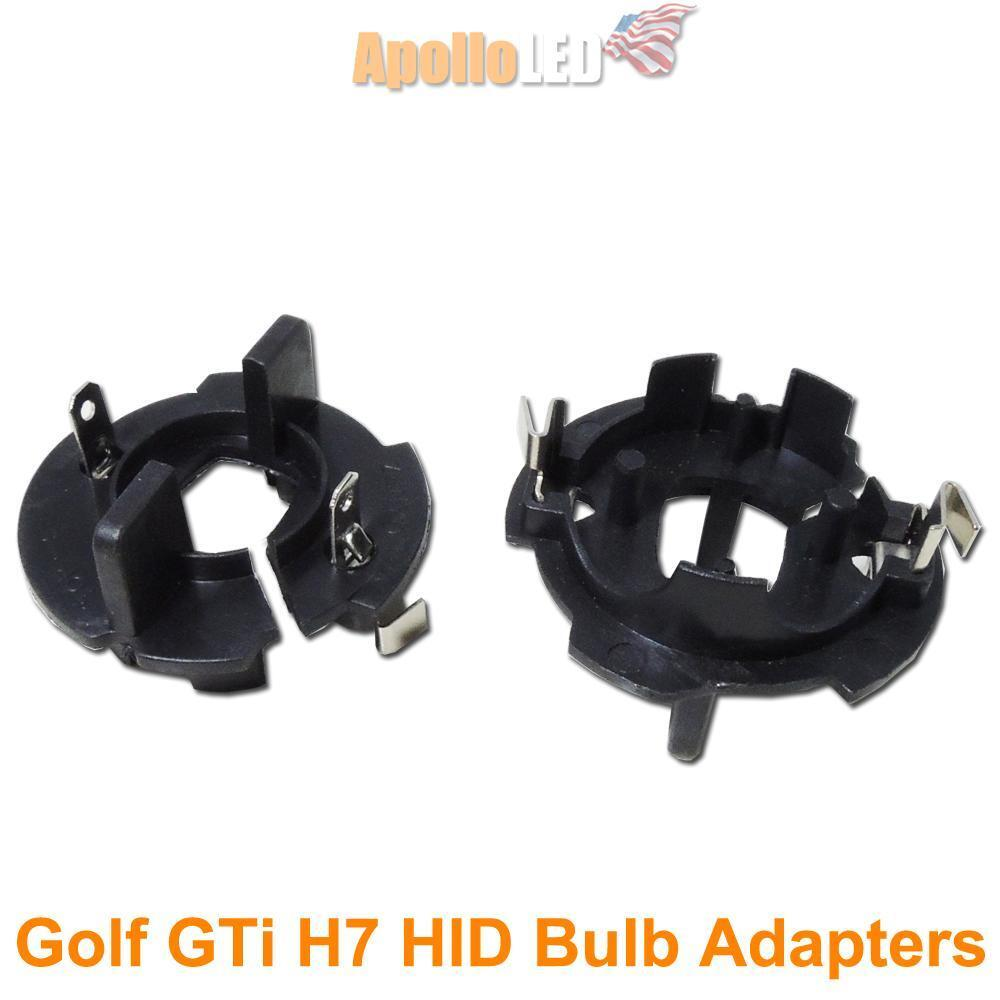 2pcs H7 Hid Bulb Adapters Holders For Volkswagen Mk5 Gti