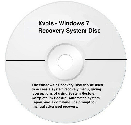 laptop windows 7 system recovery disk boot cd 32 bit ebay. Black Bedroom Furniture Sets. Home Design Ideas