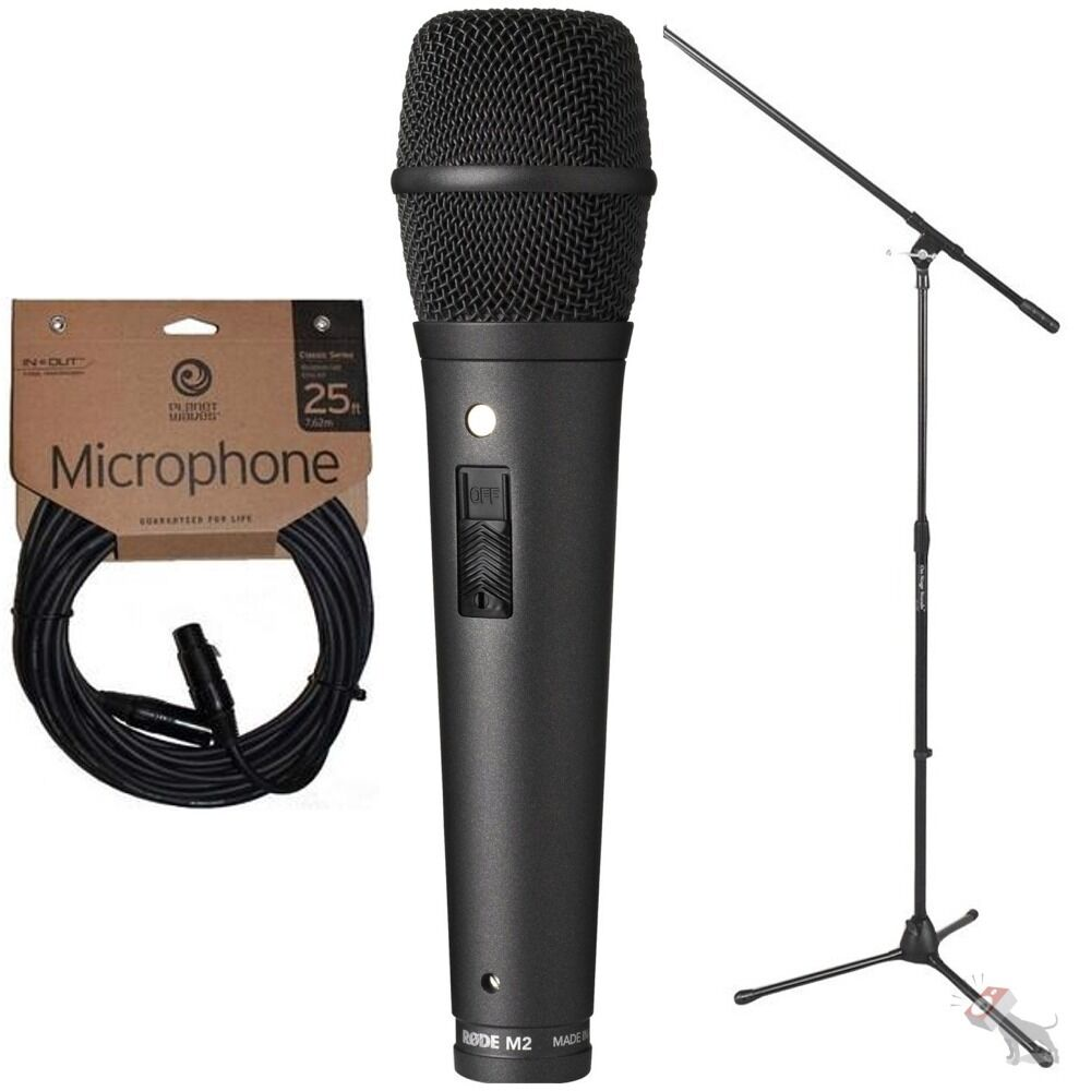 rode m2 live condenser super cardioid vocal microphone w stand and mic cable ebay. Black Bedroom Furniture Sets. Home Design Ideas